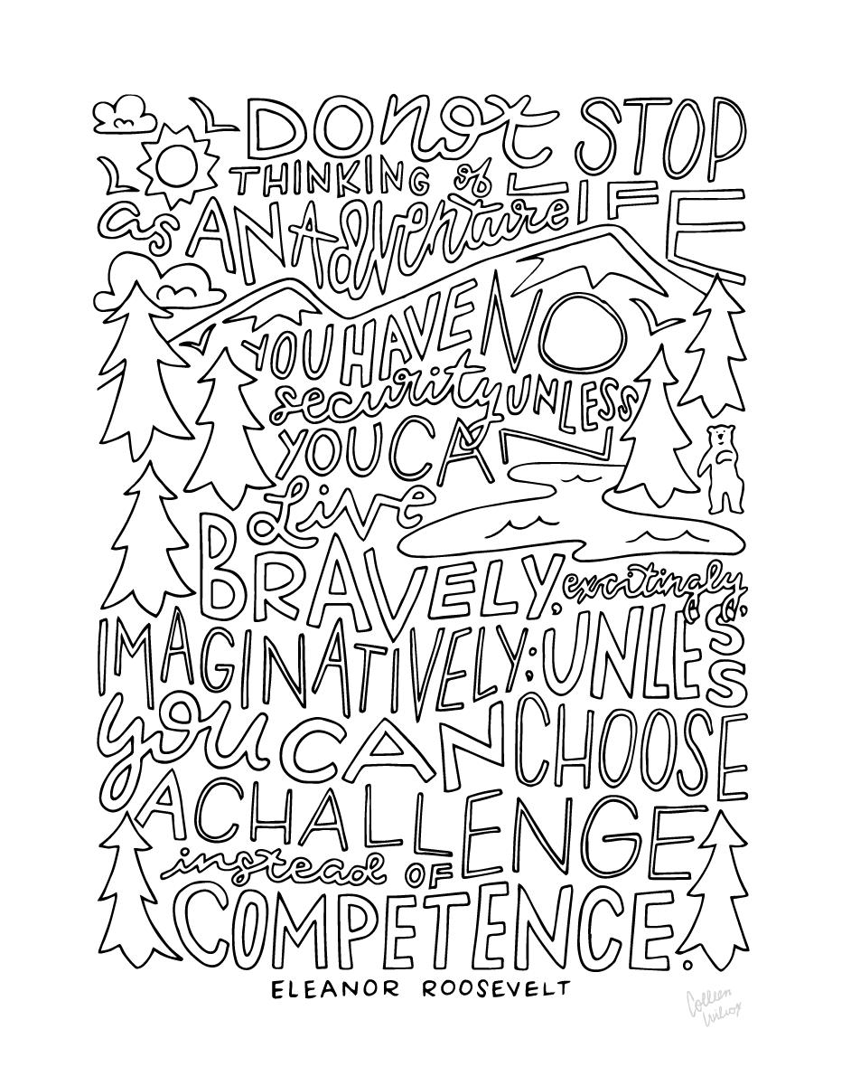 Inspirational Coloring Pages   Wander on Words